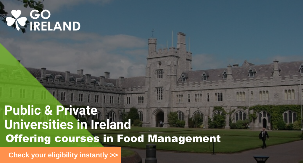 Food Management Course in Best Universities In  Ireland
